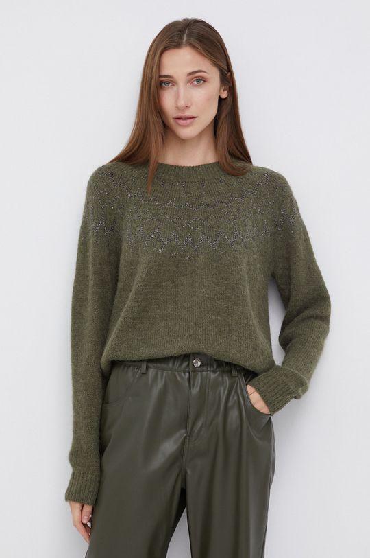 brudny zielony Mos Mosh - Sweter z domieszką wełny Damski
