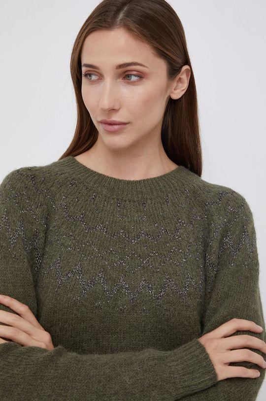 brudny zielony Mos Mosh - Sweter z domieszką wełny