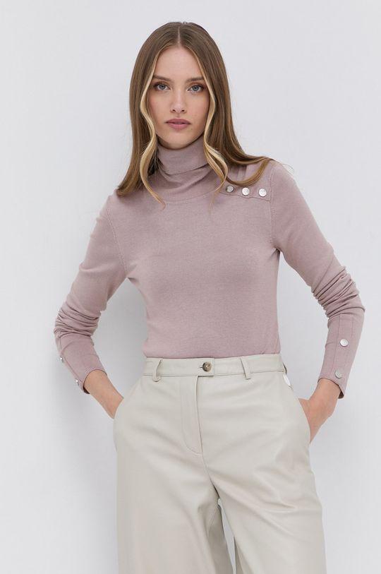 Silvian Heach - Sweter pastelowy różowy