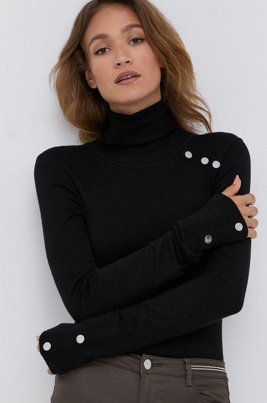 czarny Silvian Heach - Sweter Damski