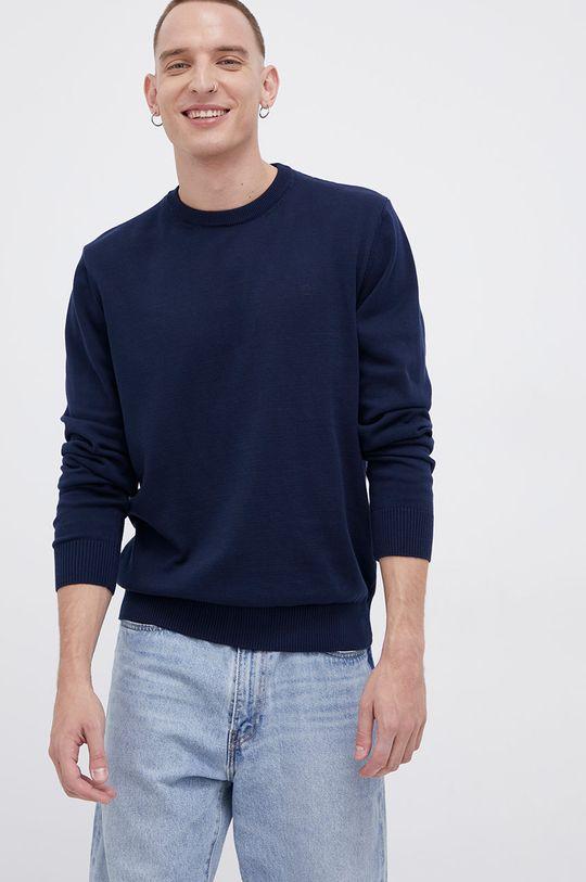 granatowy Cross Jeans - Sweter bawełniany Męski