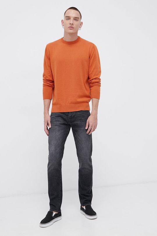 pomarańczowy Cross Jeans - Sweter bawełniany Męski