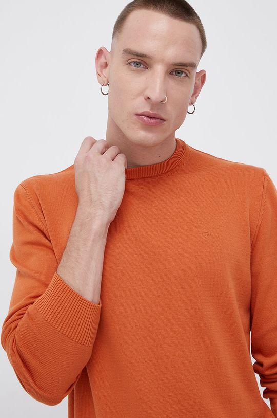 pomarańczowy Cross Jeans - Sweter bawełniany