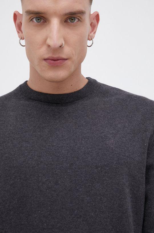 grafitowy Cross Jeans - Sweter bawełniany