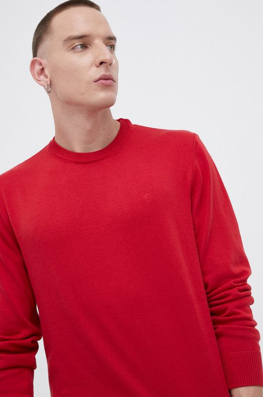 czerwony Cross Jeans - Sweter bawełniany Męski