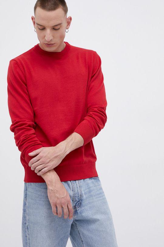 czerwony Cross Jeans - Sweter bawełniany