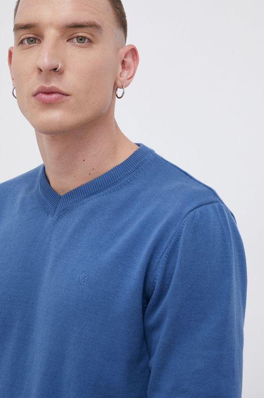 niebieski Cross Jeans - Sweter bawełniany