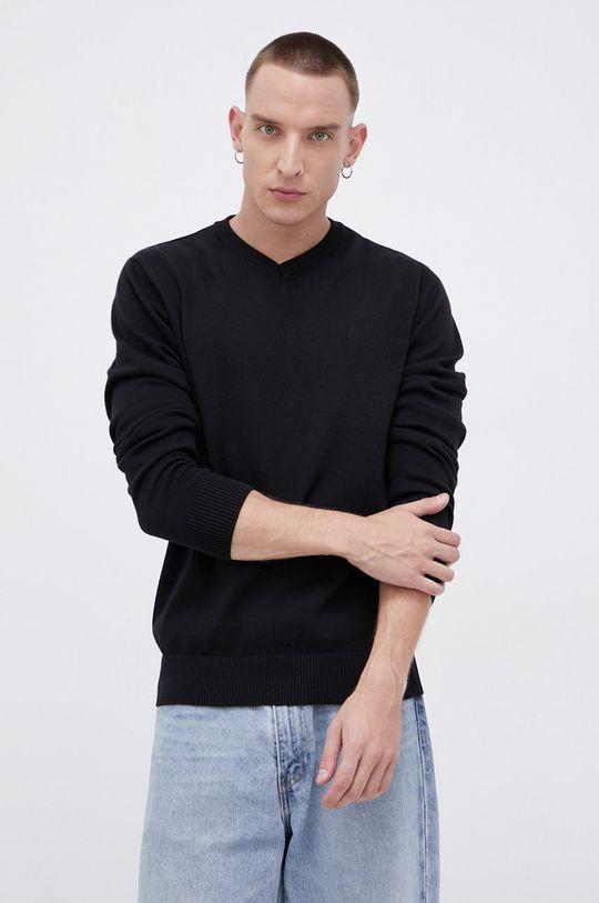 czarny Cross Jeans - Sweter bawełniany Męski