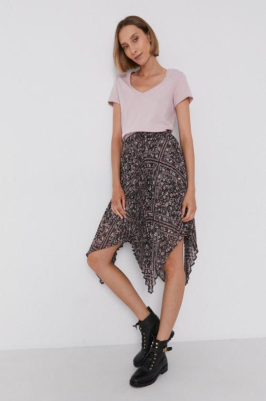 pastelowy różowy Mos Mosh - T-shirt bawełniany Damski