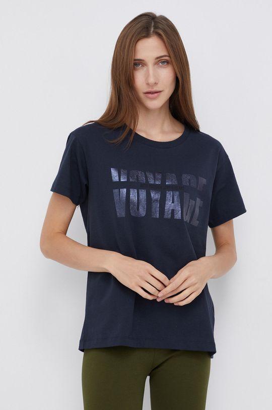granatowy Mos Mosh - T-shirt bawełniany Damski