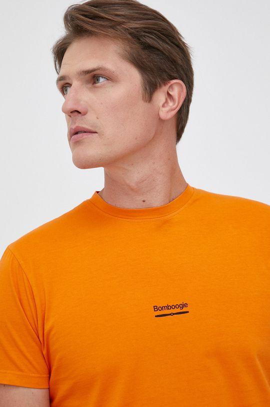 pomarańczowy Bomboogie - T-shirt bawełniany Męski