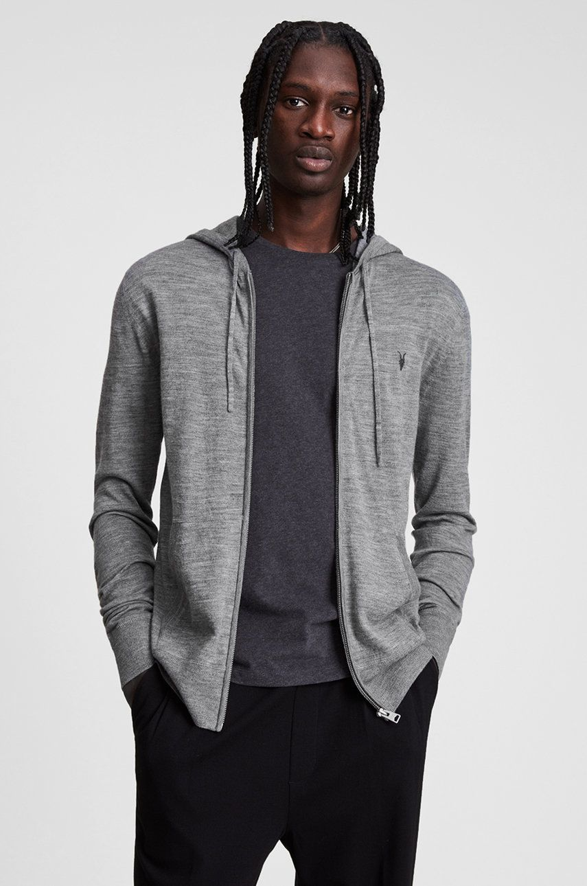 AllSaints - Bluza Mode Merino Zip Hood