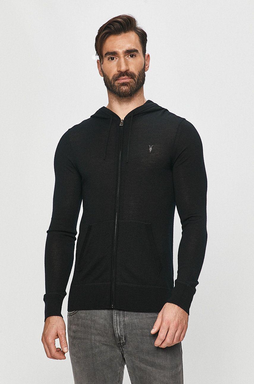 AllSaints - Bluza Mode Merino Zip Hood imagine answear.ro