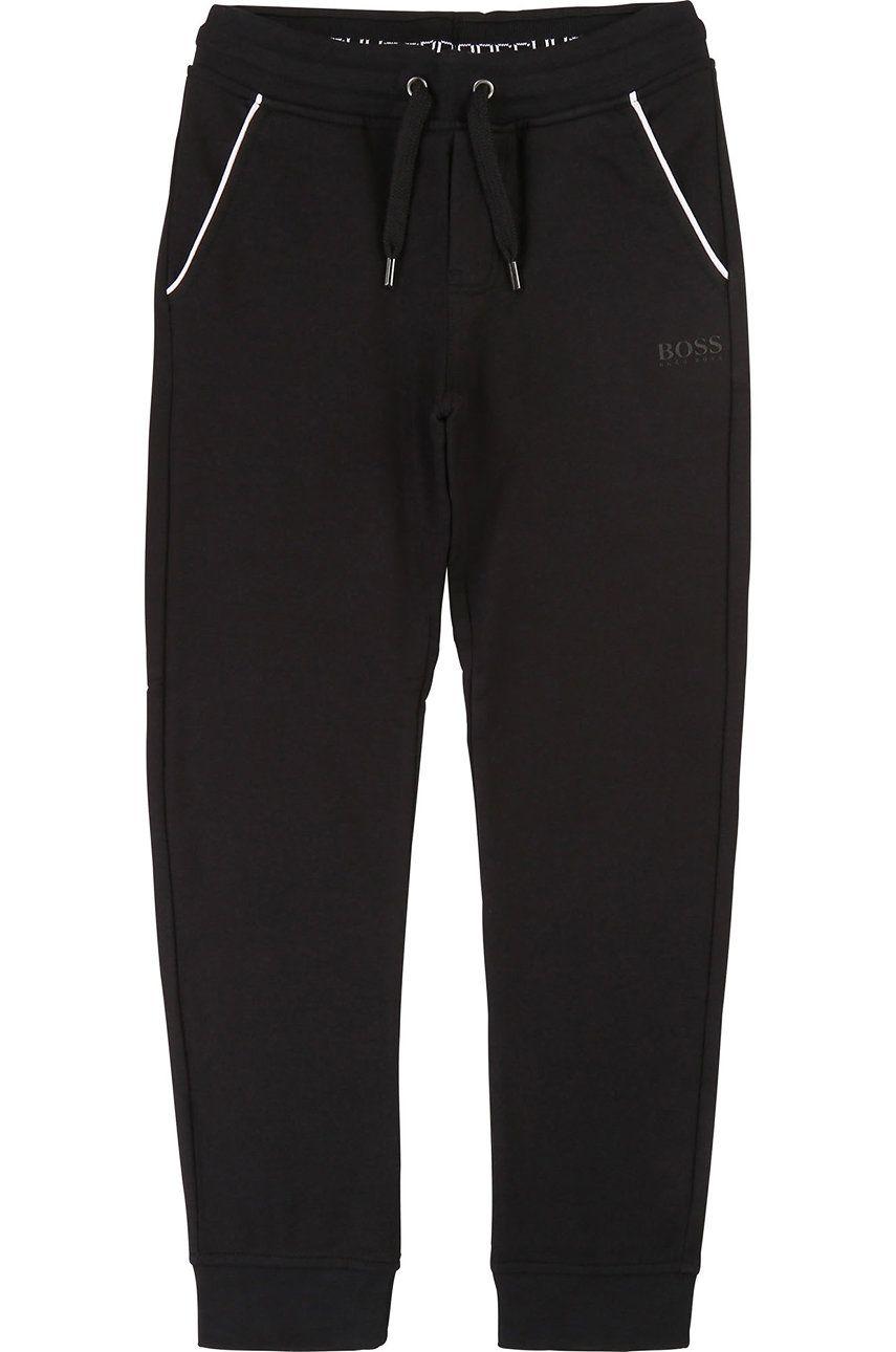 Boss - Pantaloni copii 104-110 cm imagine answear.ro