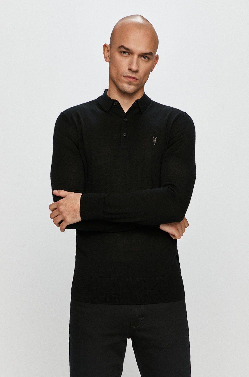 AllSaints - Longsleeve Mode Merino LS Polo