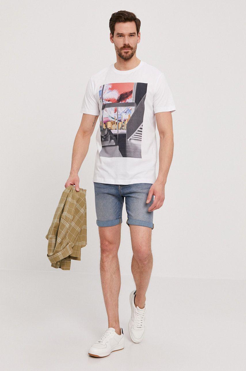 Selected - Pantaloni scurti jeans imagine answear.ro 2021