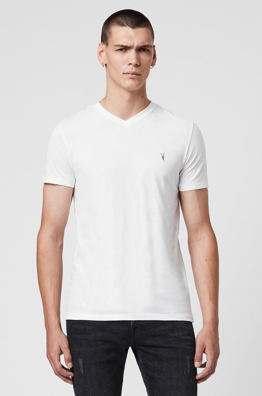 AllSaints - Tricou Tonic V-neck imagine 2020