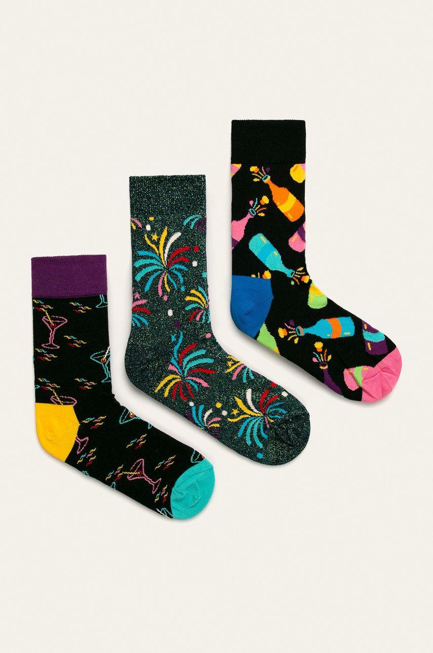 Happy Socks - Sosete New Year`s Gift Box (3-pack)