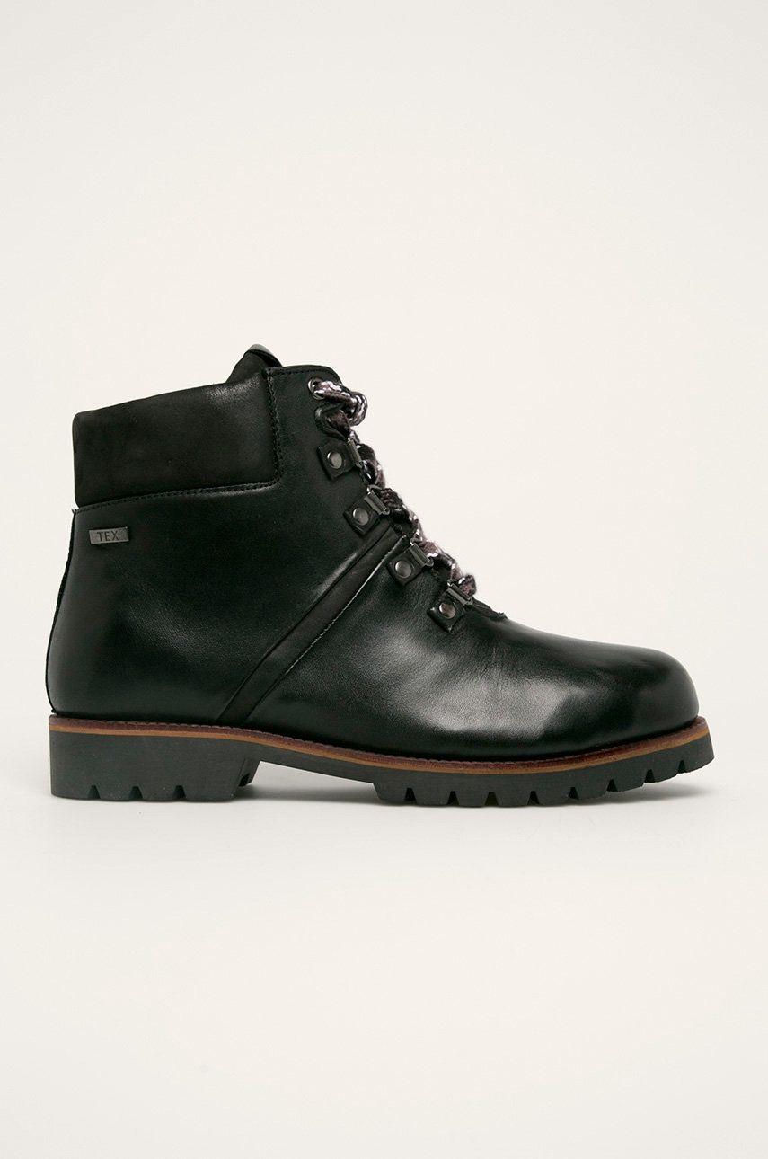 Caprice - Kožené členkové topánky