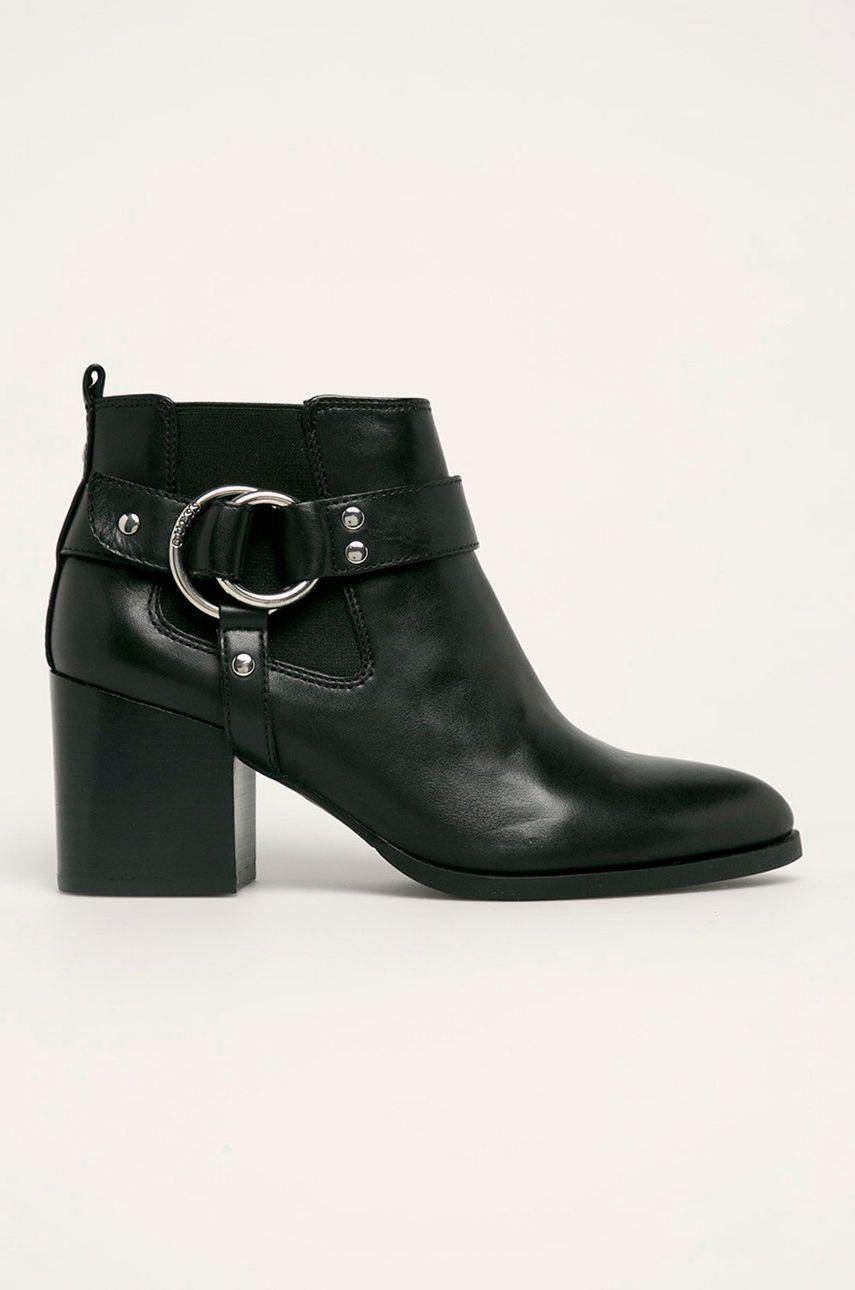 Guess Jeans - Kožené členkové topánky