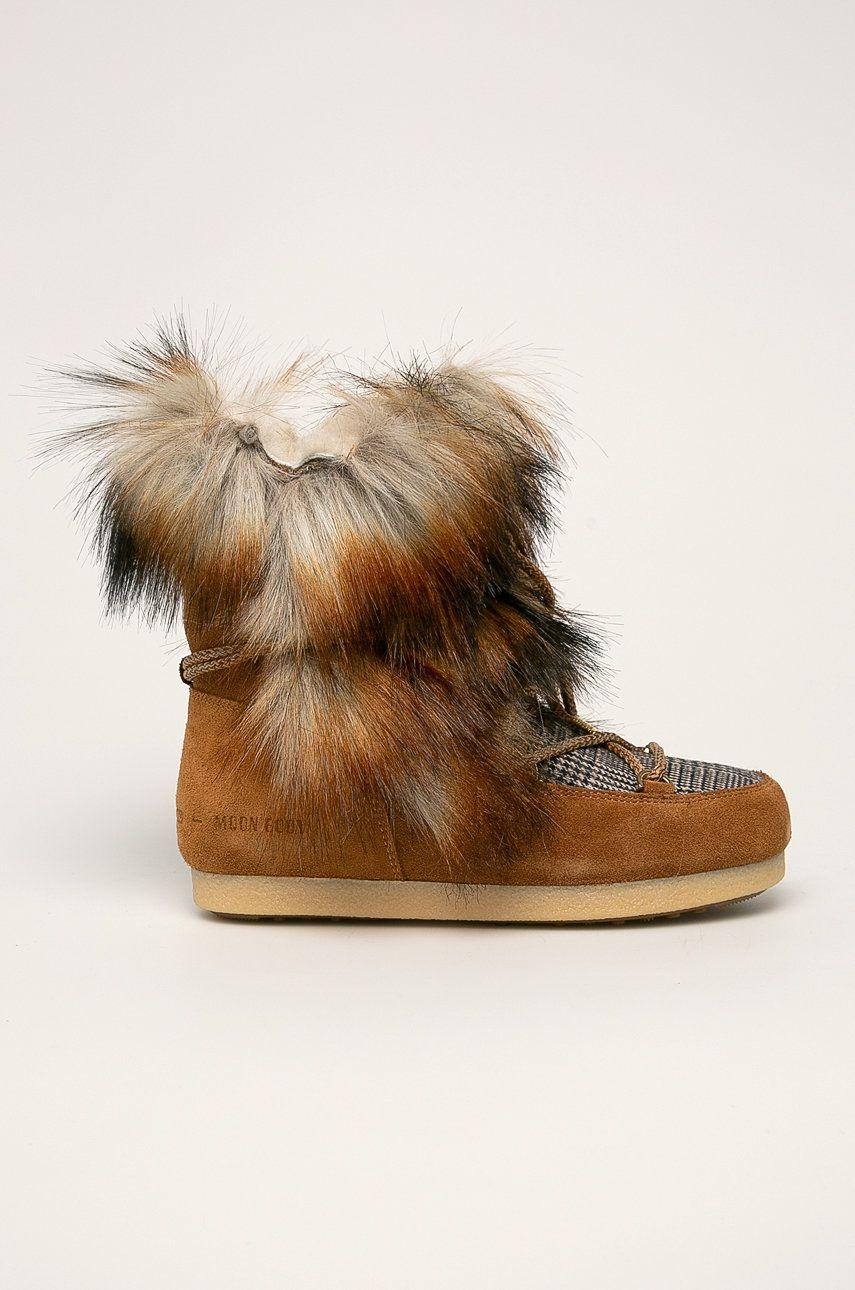 Moon Boot - Cizme de iarna Far Side High Faux Fox Fur imagine