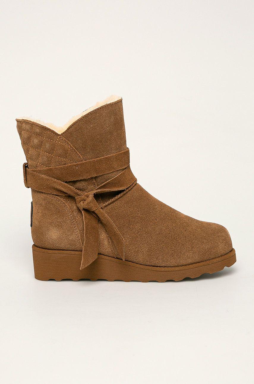 E-shop Bearpaw - Kožené kotníkové boty Maxine