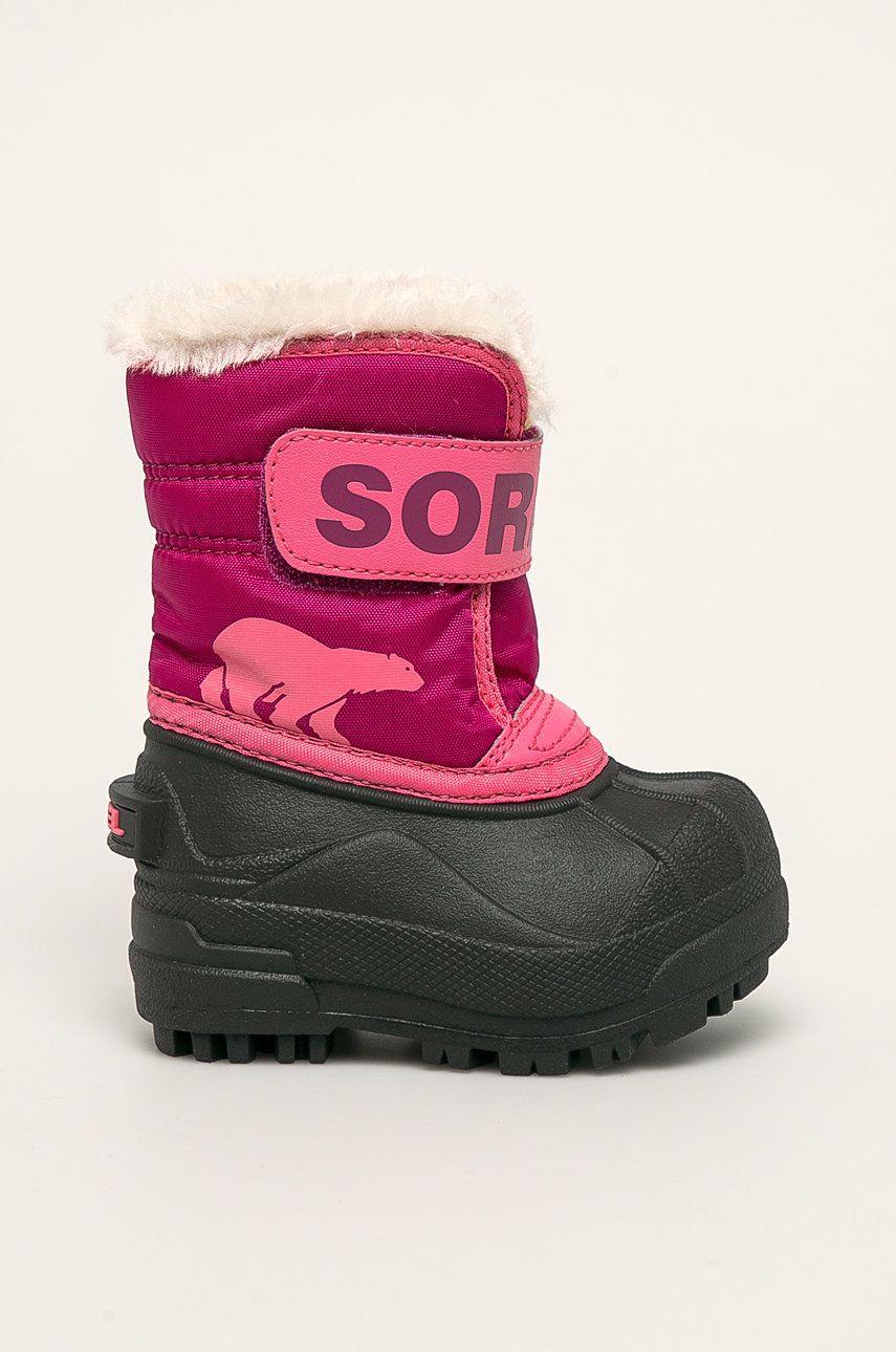 sorel - Cizme de iarna copii Toddler snow Commander poza