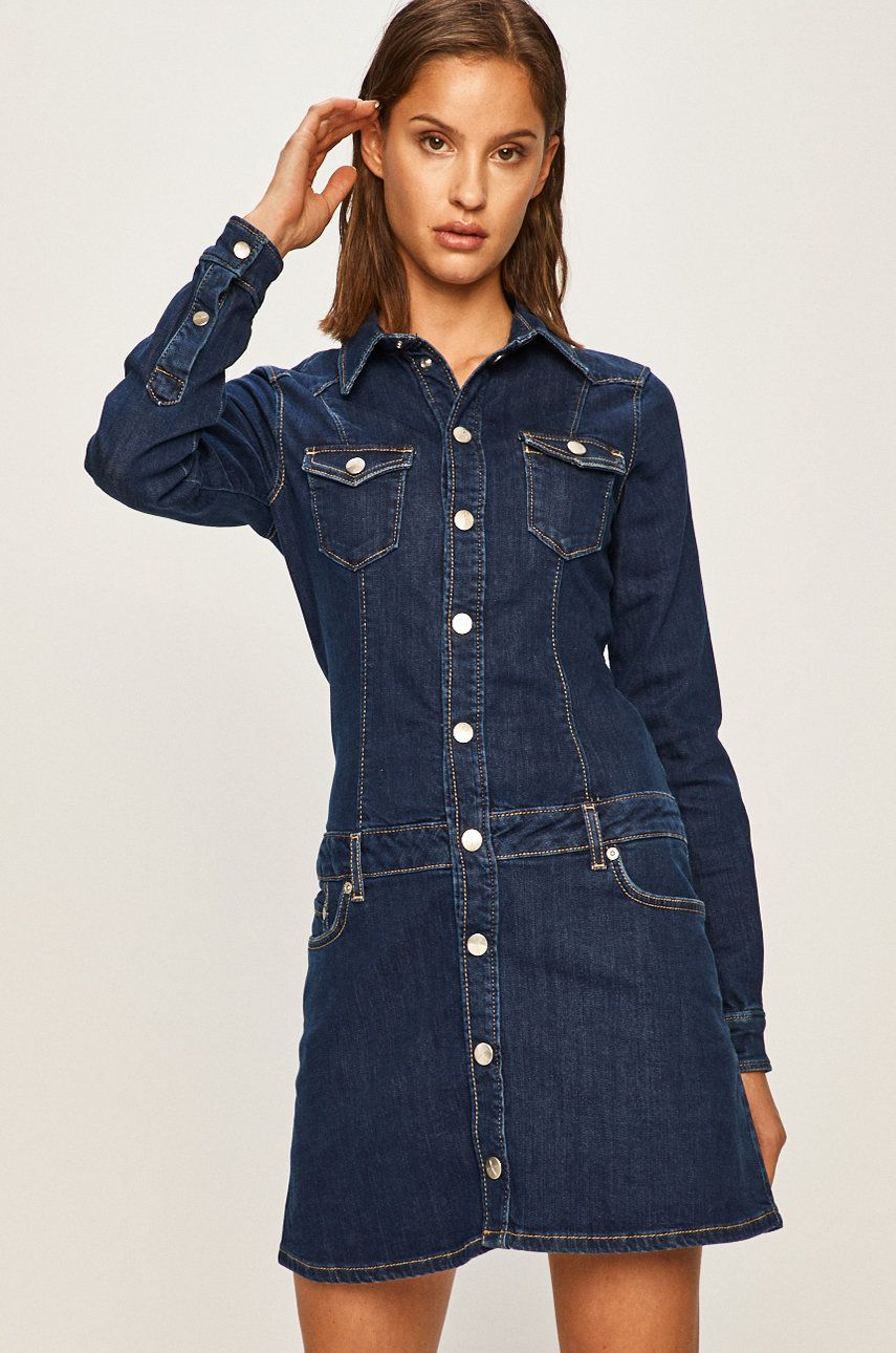 Pepe Jeans - Rochie jeans Dakota x Dua Lipa