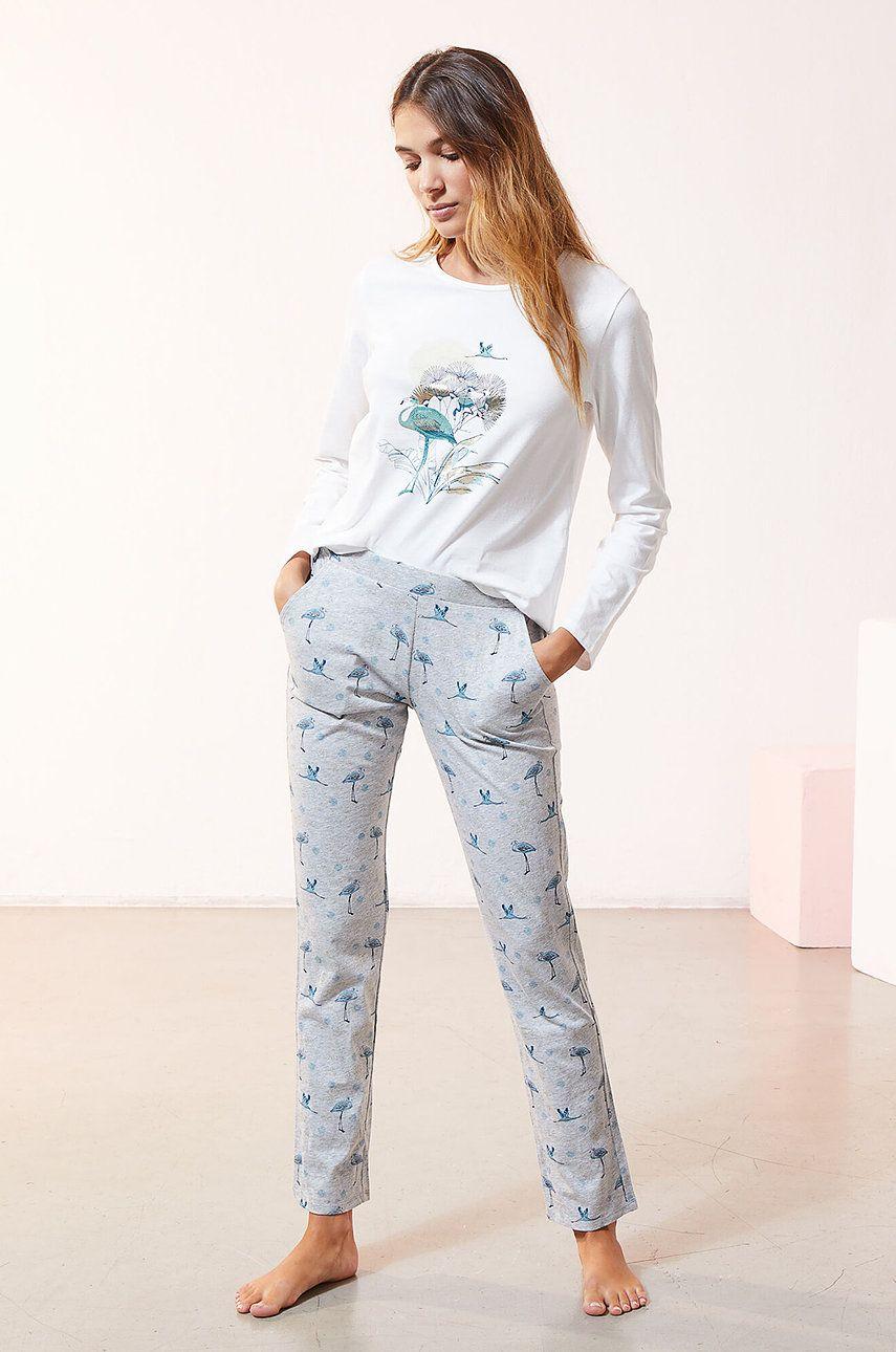 Etam - Set de pijamale din 3 piese ROSA