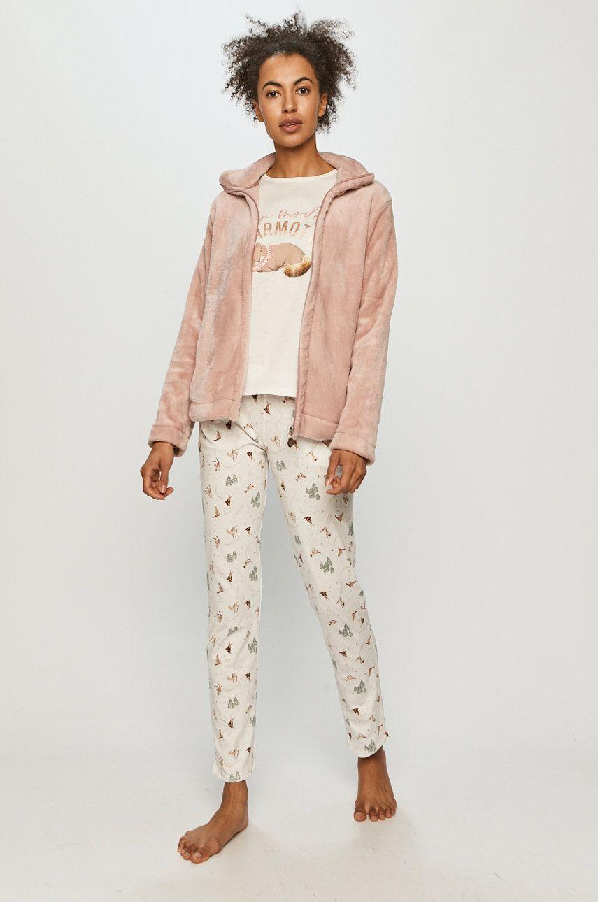 Etam - Set de pijamale din 3 piese OSLO imagine answear.ro 2021