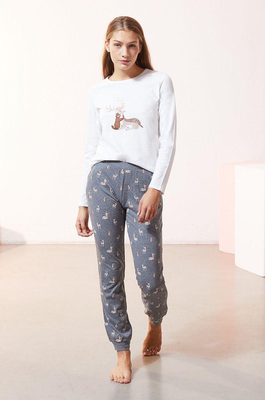 Etam - Set de pijamale din 3 piese OHAIO
