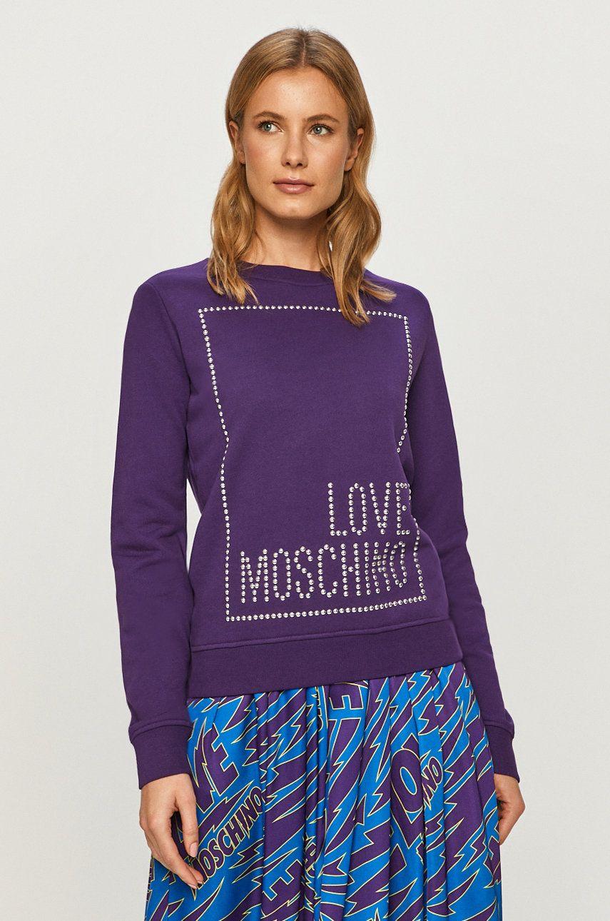 Love Moschino - Hanorac de bumbac - medelin.ro