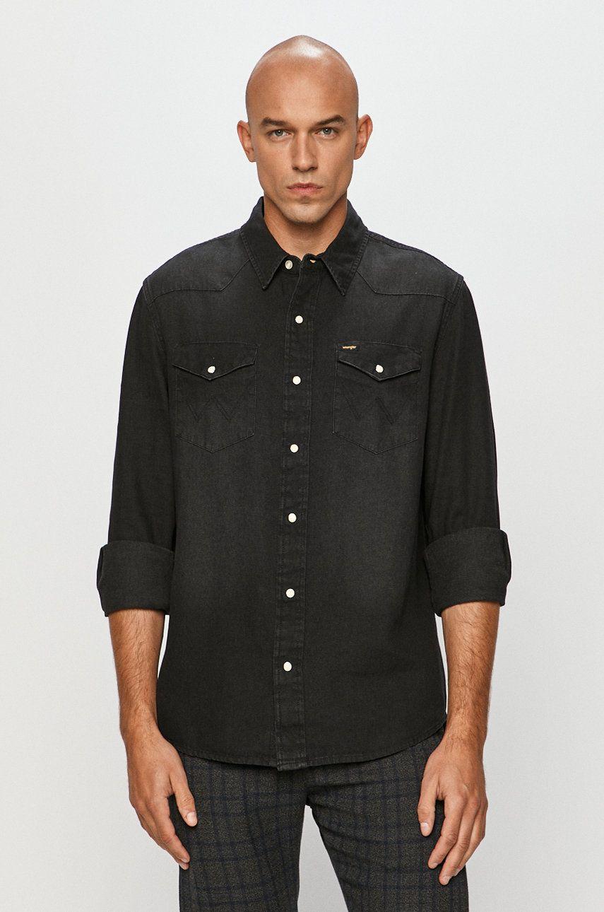 Wrangler - Camasa jeans de la Wrangler