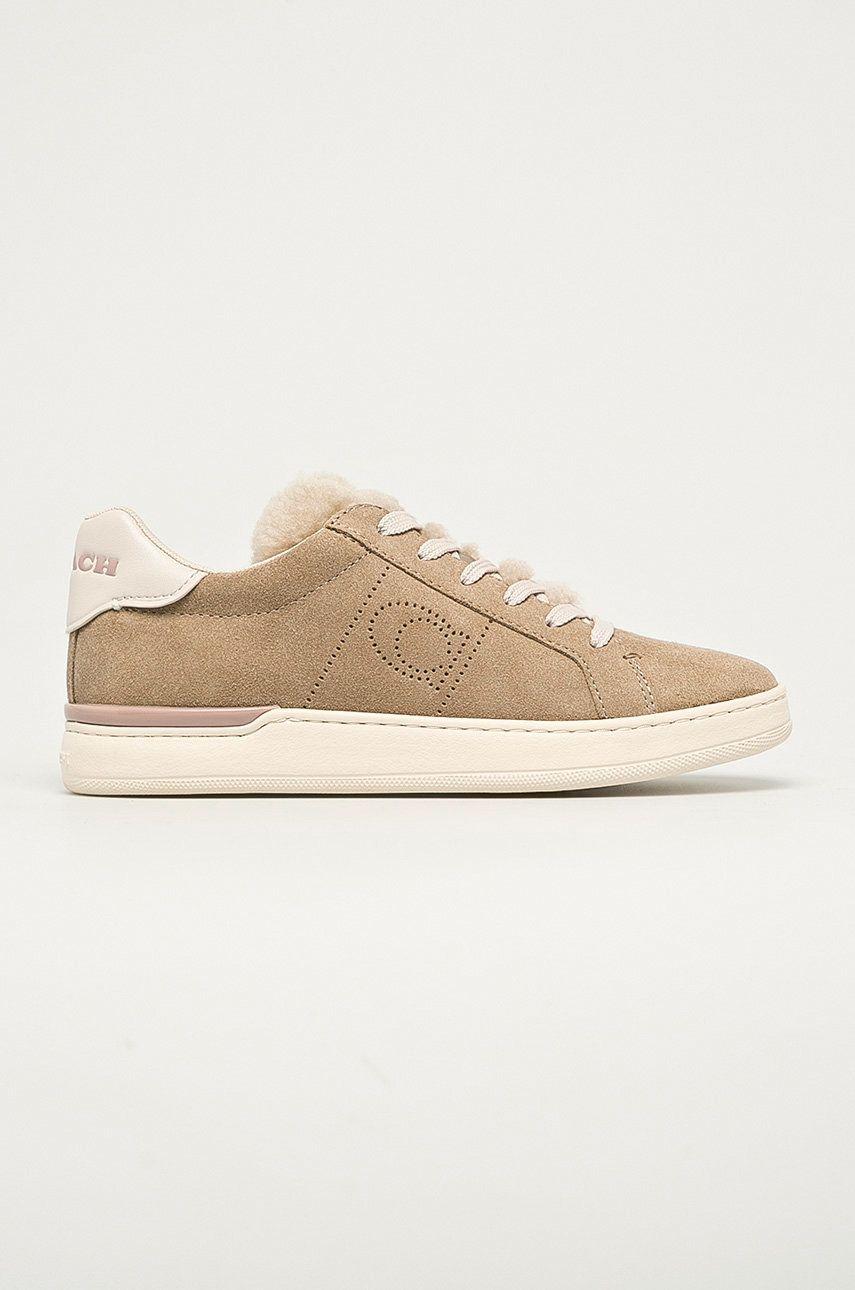 Coach - Pantofi de piele intoarsa