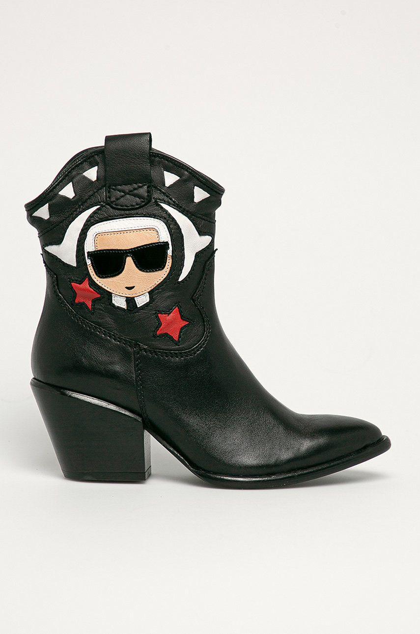 Karl Lagerfeld - Cizme de piele imagine answear.ro 2021
