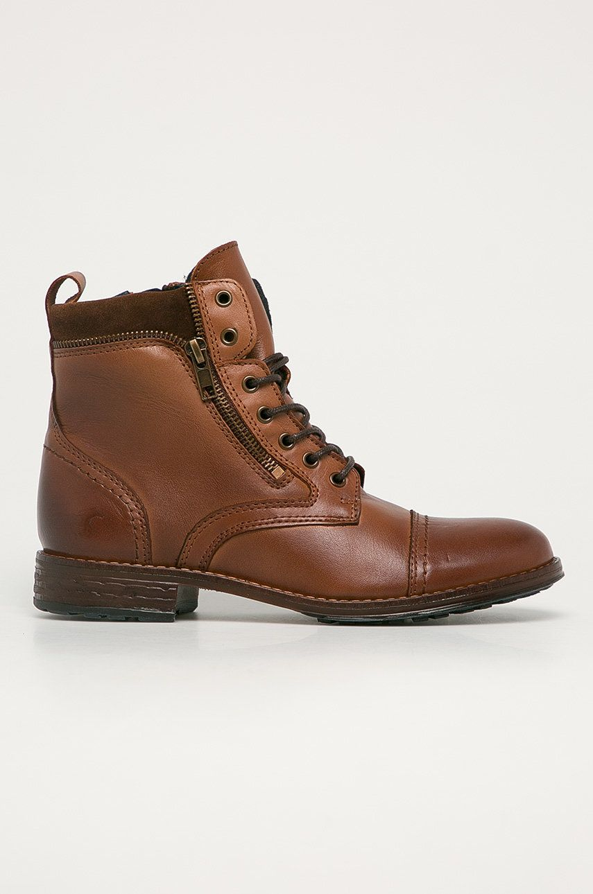 Mustang - Kožené kotníkové boty