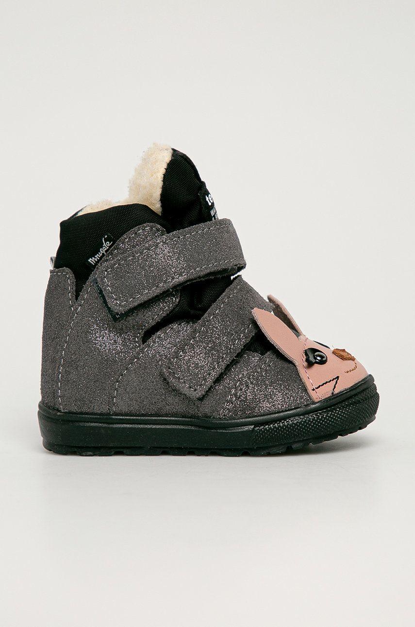 Mrugała - Pantofi din piele intoarsa pentru copii imagine answear.ro 2021