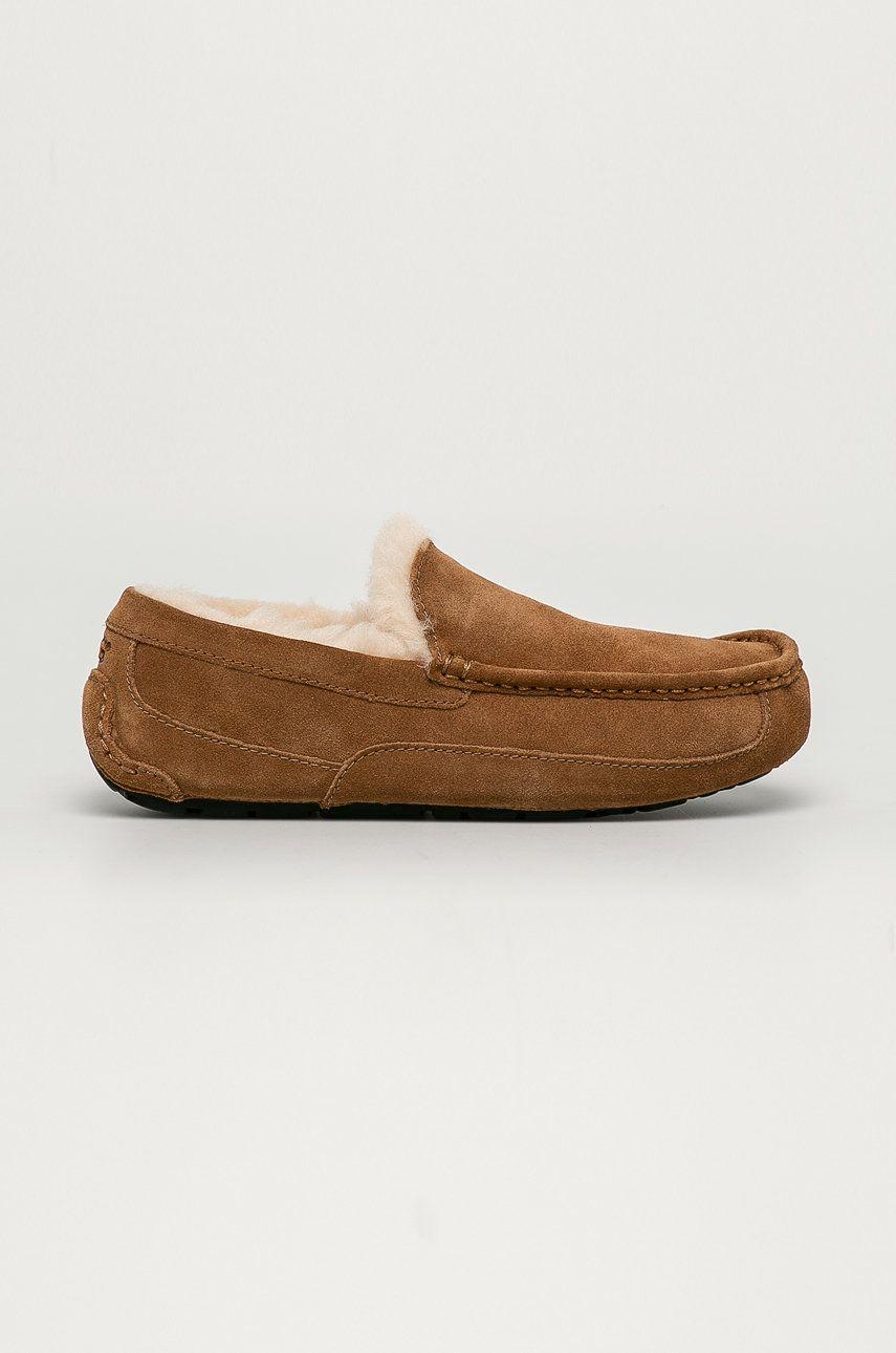 UGG - Papuci din piele Ascot imagine