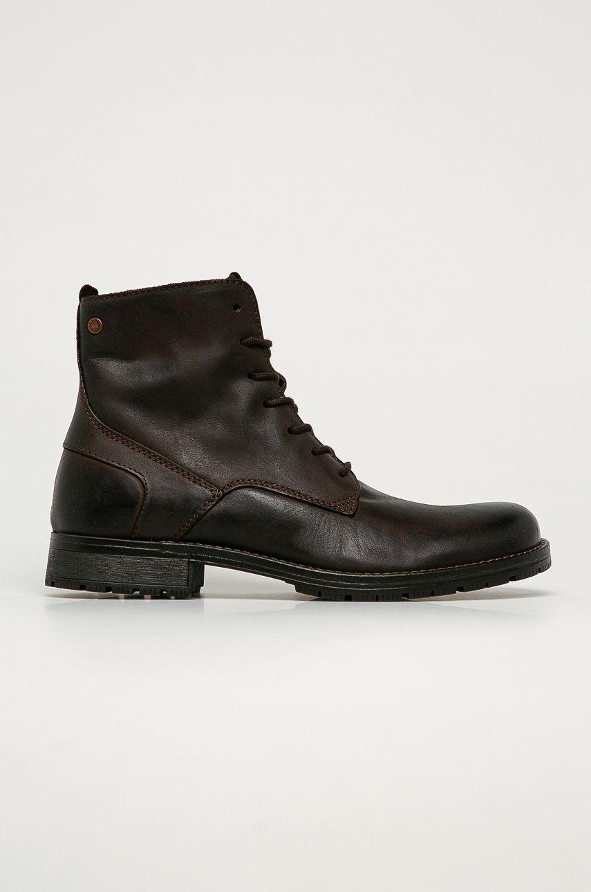 Jack & Jones - Pantofi inalti de piele imagine