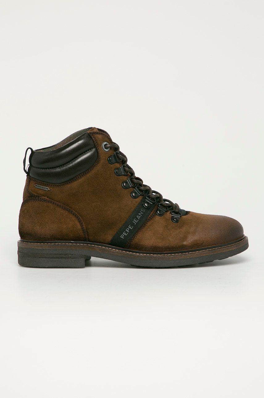 Pepe Jeans - Pantofi de piele intoarsa Hubert Mountain imagine