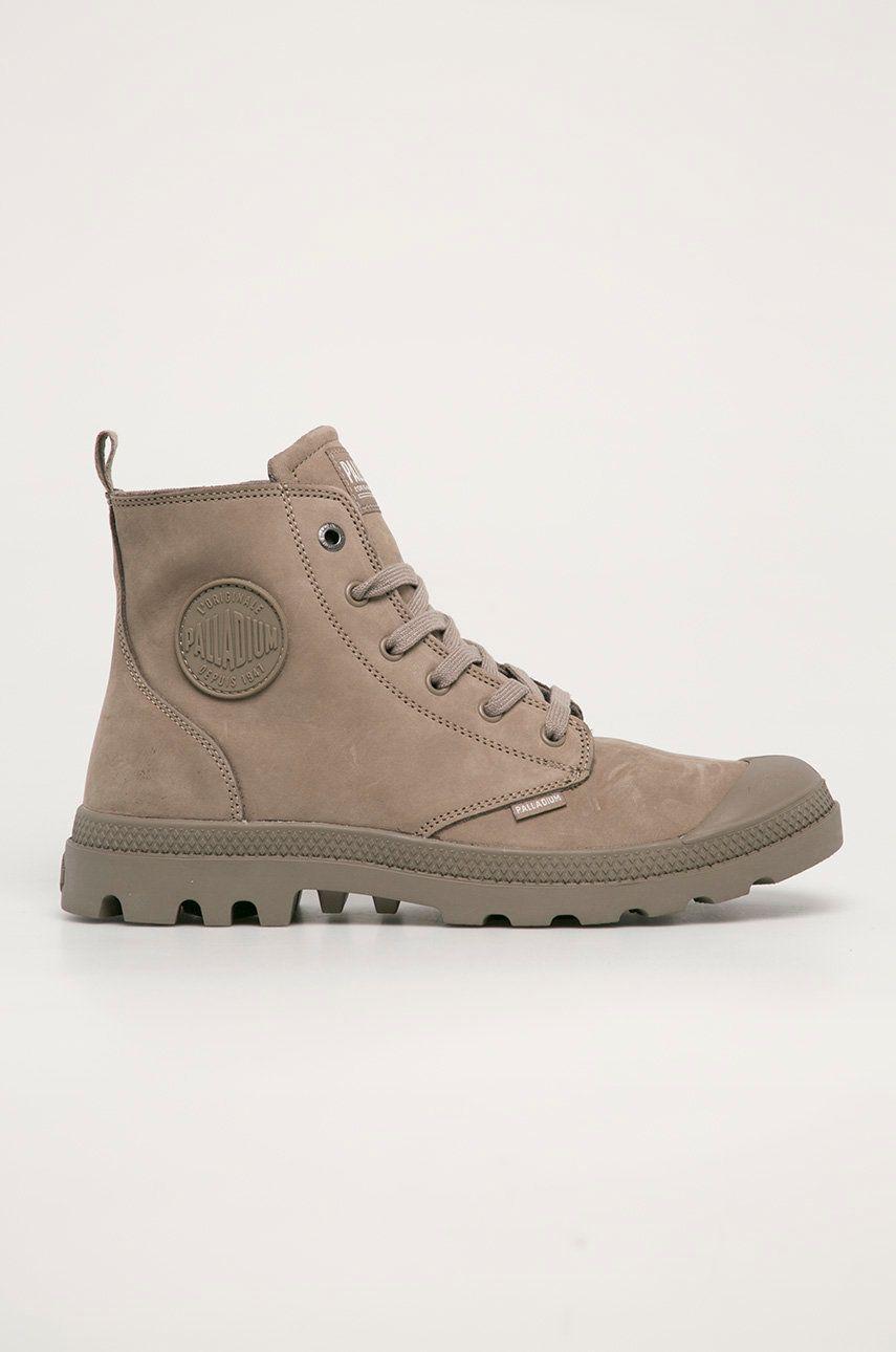 Palladium - Pantofi de piele intoarsa