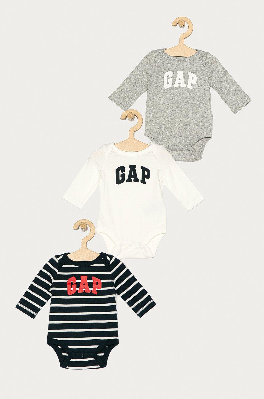 GAP - Body bebe 50-80 cm (3-pack) poza