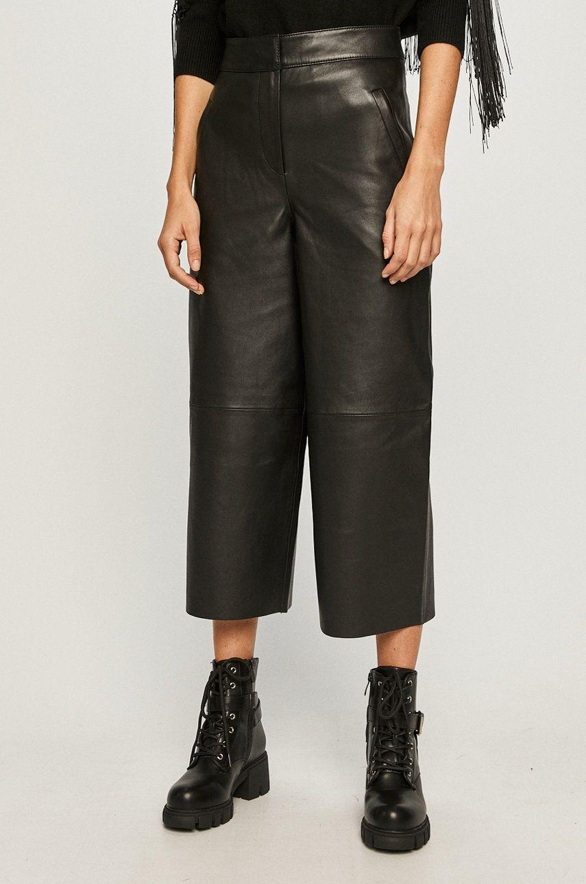 AllSaints - Pantaloni de piele imagine answear.ro