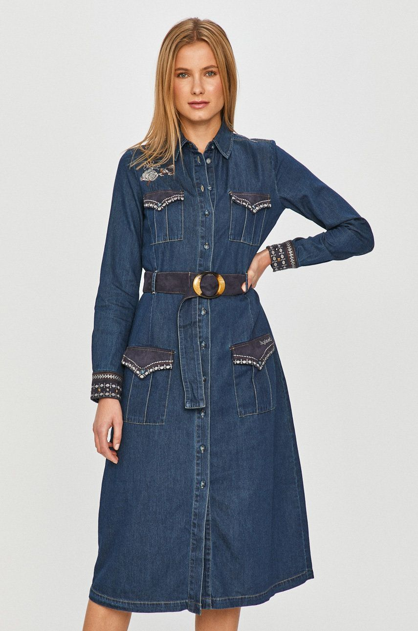 Desigual - Rochie jeans