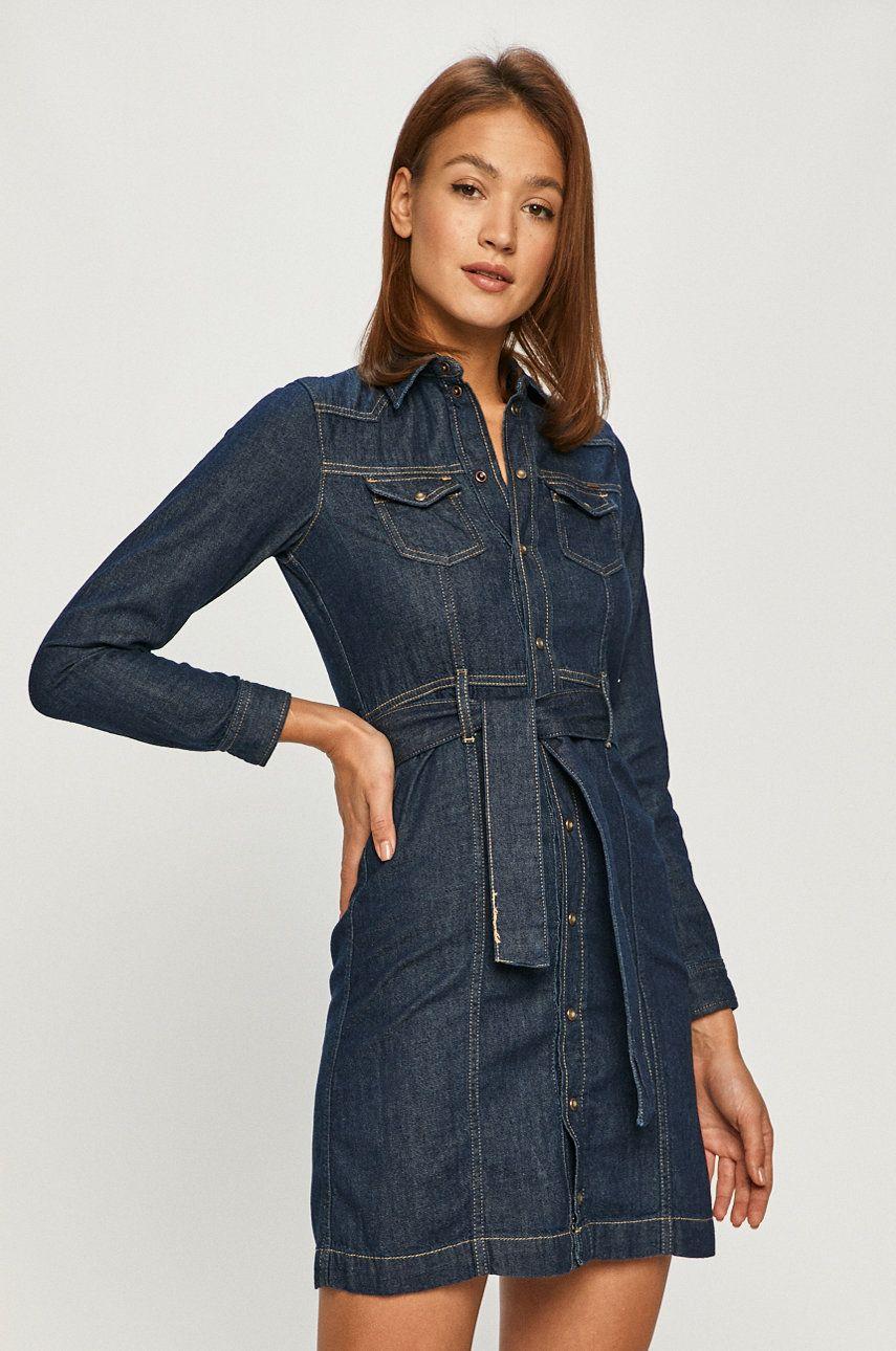 Pepe Jeans - Rochie jeans Julie