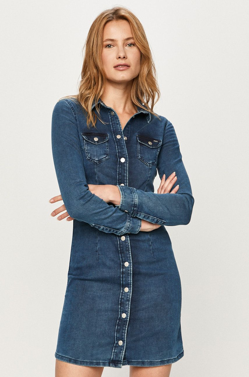 Pepe Jeans - Rochie jeans Cindy Ro