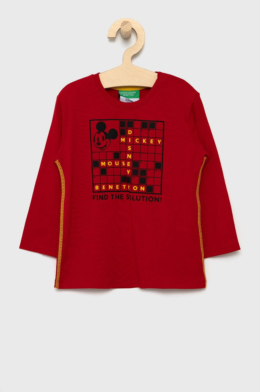 United Colors of Benetton - Detské tričko s dlhým rukávom x Disney