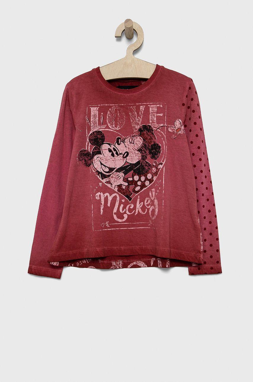 Desigual - Detská bavlnená košeľa s dlhým rukávom x Disney