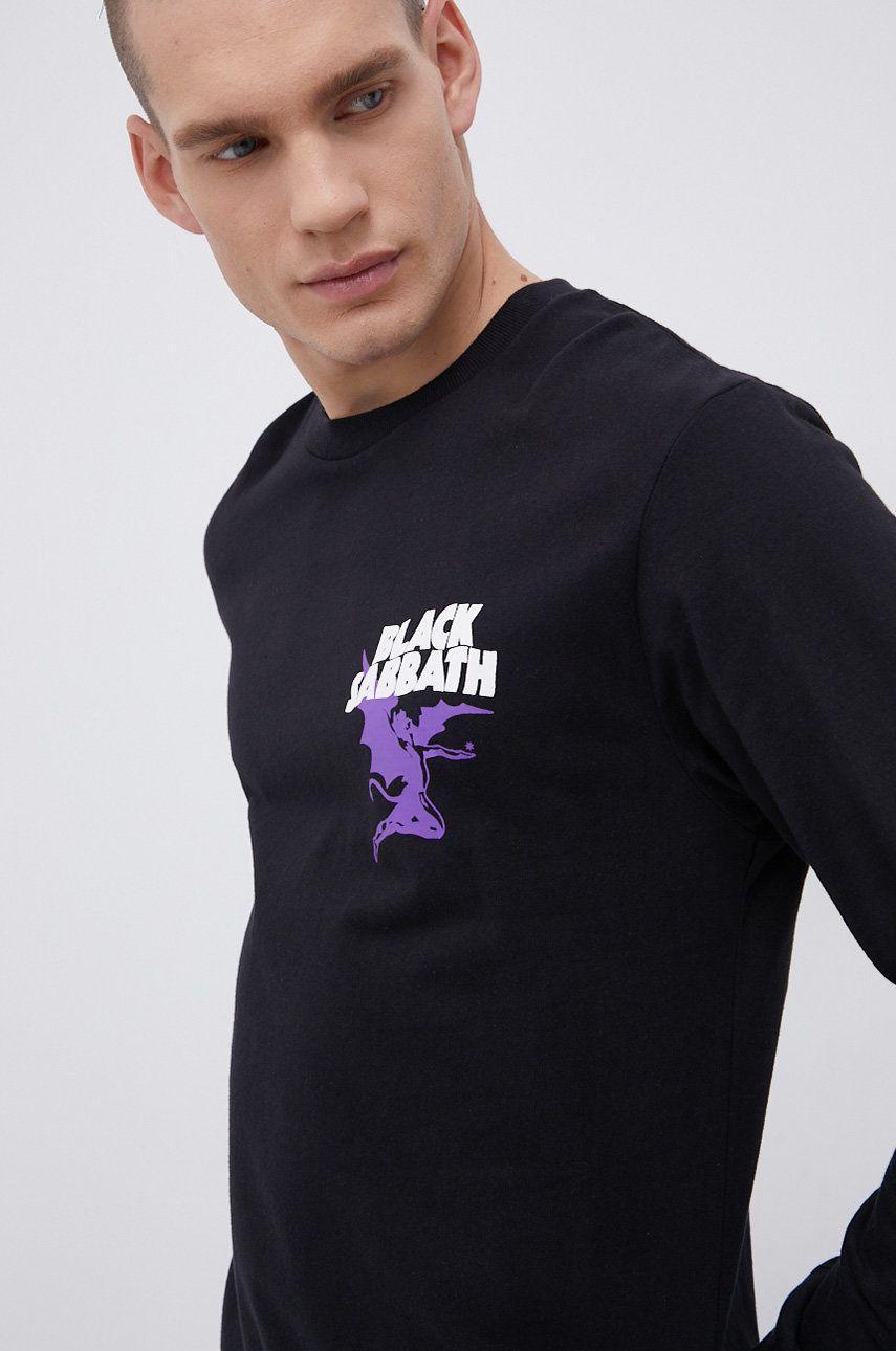 Dc - Bavlnené tričko s dlhým rukávom x Black Sabbath