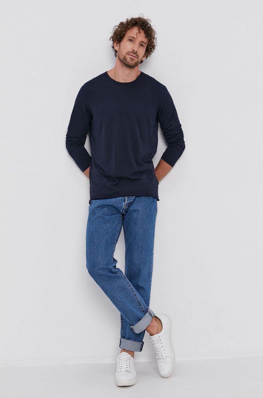 Sisley - Bavlnené tričko s dlhým rukávom